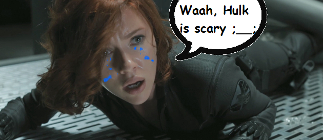 Artist's rendition of Black Widow's character arc.