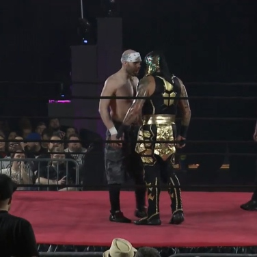 GCW Champion Nick Gage goes face to face with Penta El Zero M