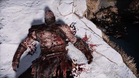 Kratos, looking a bit worse for wear