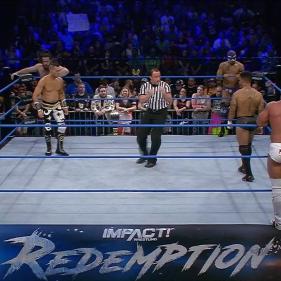 A Lucha Rules 6-Man match