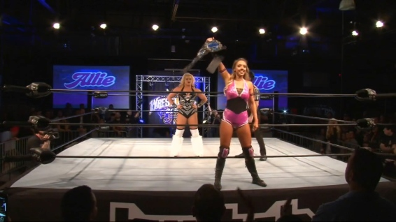 Allie prepares to defend her championship against Taya Valkyrie