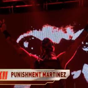Punishment Martinez makes an intimidating entrance