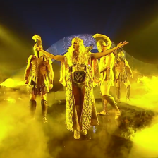 Charlotte Flair, with an entrance fit for a Queen