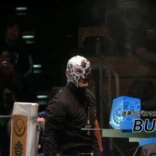 My boy BUSHI, looking more and more like Rey Myserio every day