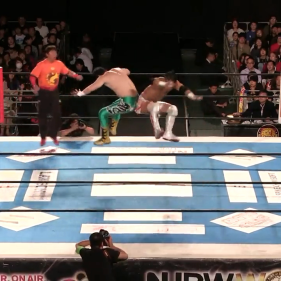 Taguchi and KUSHIDA go ass-to-ass in their battle