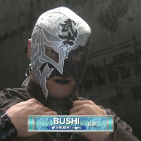 My boy BUSHI before his grudge match against Yoshinobu Kanemaru