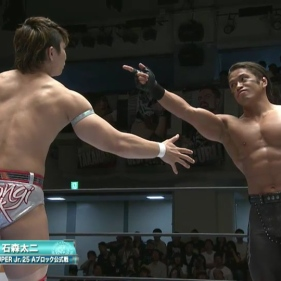 No love lost between YOH (left) and Taiji Ishimori