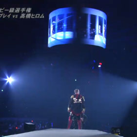 Will Ospreay, moments before his IWGP Junior Heavyweight Championship title defense