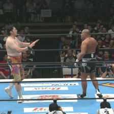 Tag team partners collide, as Toru Yano backs off from Tomohiro Ishii