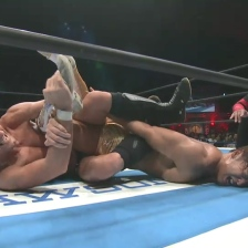 Zack Sabre Jr, ties Kota Ibushi in knots. Whose limbs are whose?