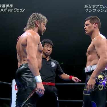 Who is the leader of the Bullet Club - Kenny Omega faces Cody for the IWGP Heavyweight Championship