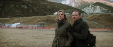 Isla Faust and Benji Dunn (Rebecca Ferguson and Simon Pegg) don't have time to sightsee the picturesque surroundings