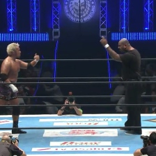 Togi Makabe faces off with Bad Luck Fale
