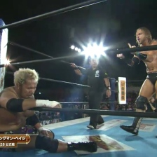 A fallen Togi Makabe receives a message from Hangman Page