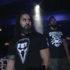 Tama Tonga, flanked by his brother-in-arms (and IRL brother) Tonga Loa