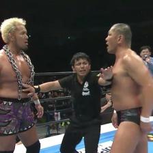 Togi Makabe (left) and Minoru Suzuki