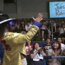 Juice Robinson, definitely living up to his 'Flamboyant' nickname