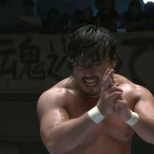 The Last Samurai, Hirooki Goto prepares to lay into Kenny Omega