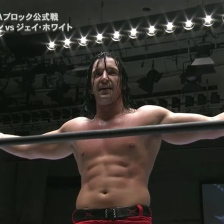 Switchblade Jay White taunts Mike Elgin