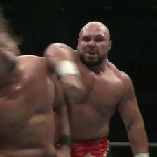 BIG MIKE destroys YOSHI-HASHI with a forearm