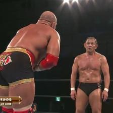 Big Mike feels the icy stare of Minoru Suzuki