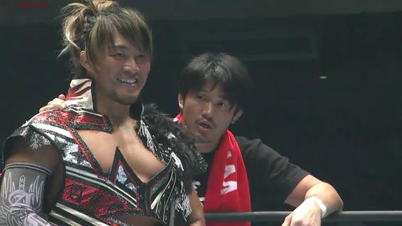Hiroshi Tanahashi, cornered by Katsuyori Shibata