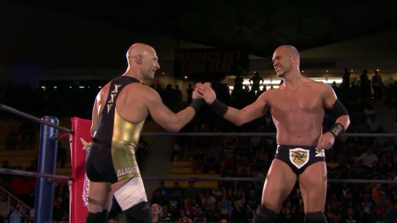 Christopher Daniels and Frankie Kazarian get ready for battle