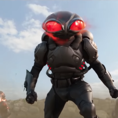 The Black Manta, not looking nearly as goofy in action as you may think