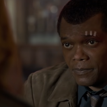 A much younger Nick Fury (Samuel L Jackson)