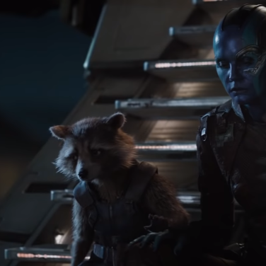Rocket (Bradley Cooper) and Nebula (Karen GIllan) have been through a lot in their time together