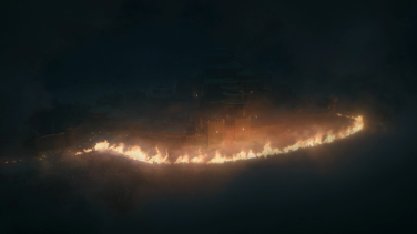 The trench set ablaze protects Winterfell, and finally lets us see some of the action.