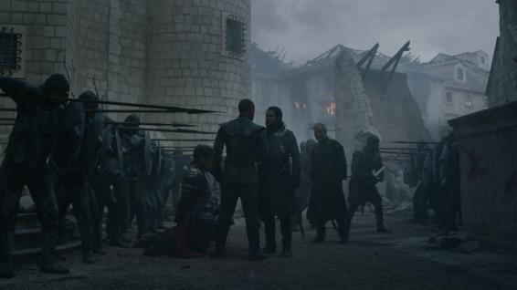 Grey Worm and Jon share a tense staredown