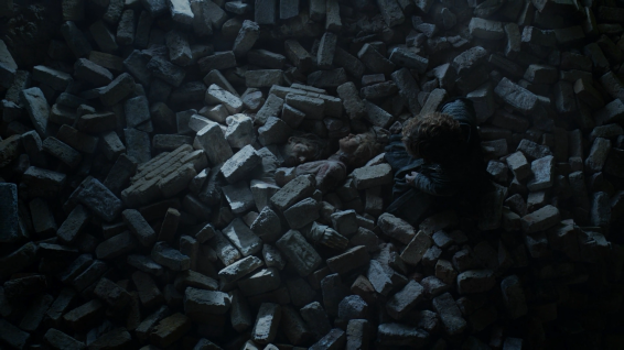 Tyrion mourns the death of Jamie and Cersei