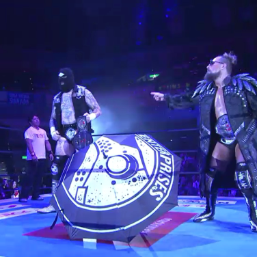 Villain Enterprises: Marty Scurll (right) and Big Bag Brody King