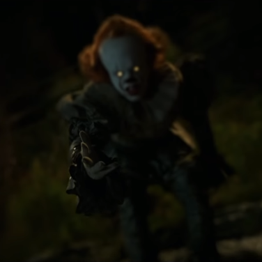 ... whilst Pennywise just being himself is most unsettling.