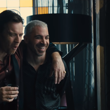 Roman Sionis (Ewan McGregor) and Victor Zsasz (Chris Messina); more than just friends?