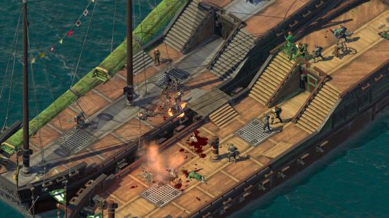 Naval boarding combat.