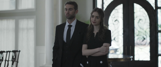 William (Chase Crawford) and Lauren Monroe (Lily Collins).