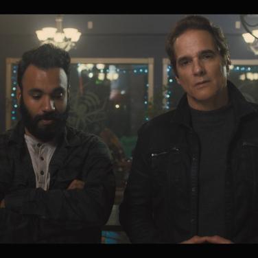 "Andy McQueen (Steve) and Yul Vazquez (Bennett), in ""Bennett"""