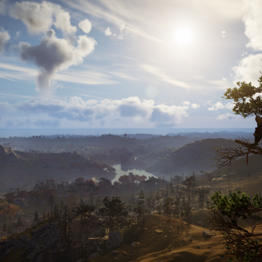 A picturesque open world to explore