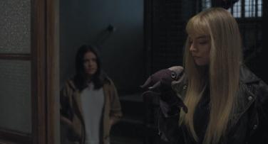 Dani gets a talking to from Illyana Rasputin (Anya Taylor-Joy) and Lockheed.