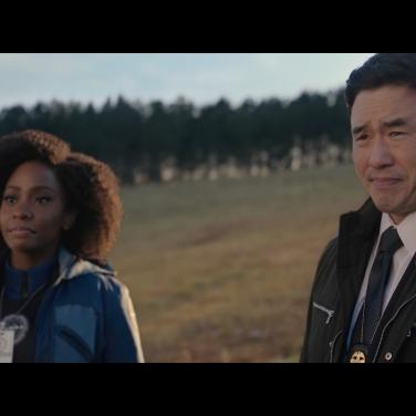 Monica meets with FBI Agent Jimmy Woo (Randall Park)