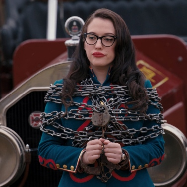 Darcy Lews (Kat Dennings) chained and bound... oh my.
