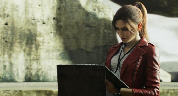 Former badass turned civilian aide, Claire Redfield (Stephanie Panisello)
