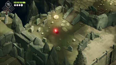 The Crow, wandering a desert graveyard in the game's isometric style.
