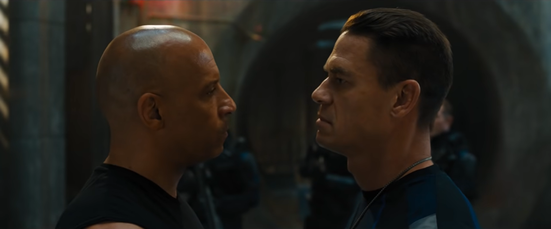 Dom (Vin Diesel) and Jakob (John Cena): this series has always been about family.