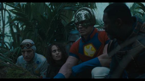 Polka-Dot Man (David Dastmalchian), Ratchatcher II (Daniella Melchior), King Shark (he is a shark), Peacemaker (John Cena) and Bloodsport (Idris Elba)